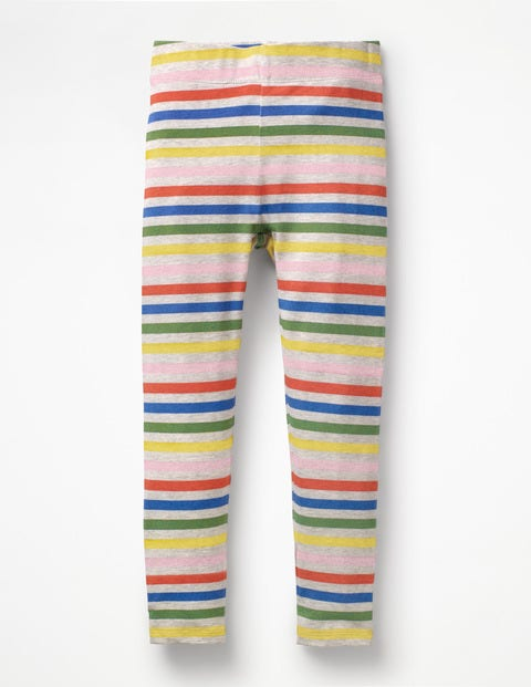 Stripe & Spot Leggings - Grey Marl Rainbow