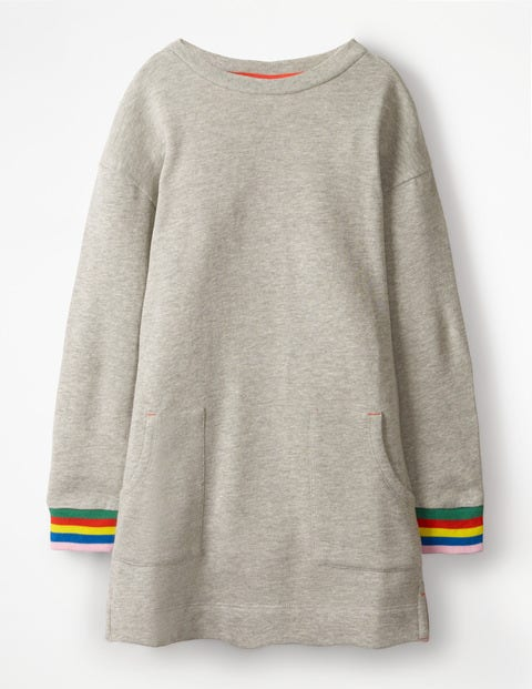 Sweatshirt Dress - Grey Marl