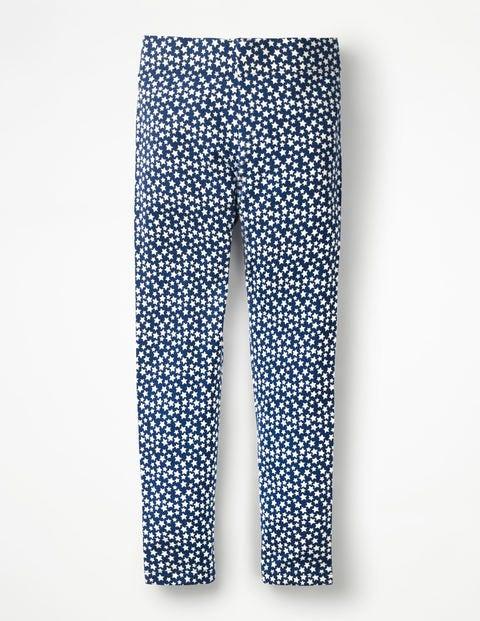 Fröhliche Bequeme Leggings - Segelblau, Sterne