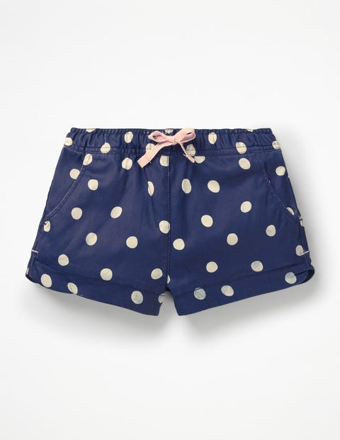 Heart Pocket Shorts - Starboard Blue/Ecru Spot