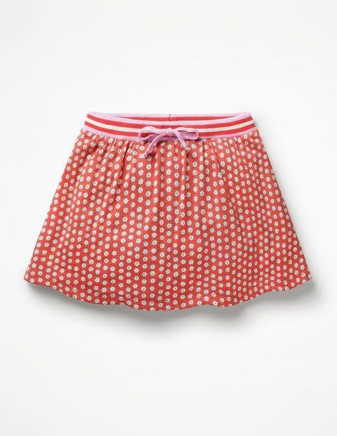 Jersey Skort - Jam Red Daisy Dot