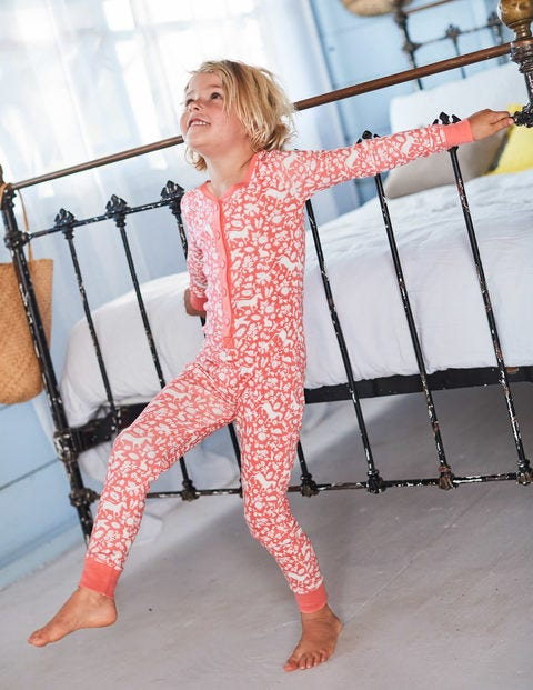 Printed All-In-One Pyjamas - Pink Wild Ponies