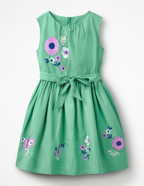 Vintage Dress - Jungle Green Flowers