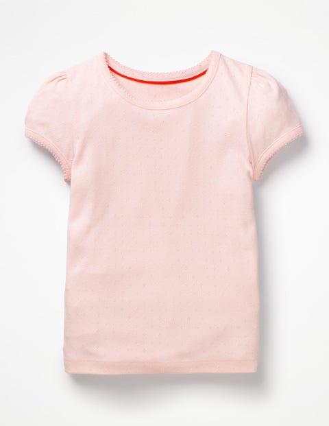 Short-Sleeved Pointelle Top - Parisian Pink