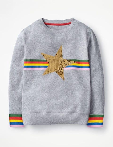 Colour-Change Sweatshirt - Grey Marl Star