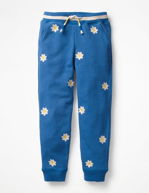 Detailed Joggers - Duke Blue Flowers