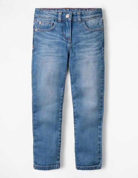 Jeans Mit Schmaler Passform - Helles Vintage