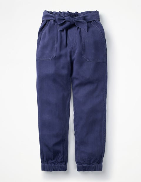 Tie-waist Trousers - College Navy