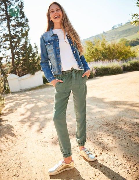 Tie-Waist Trousers - Khaki Green