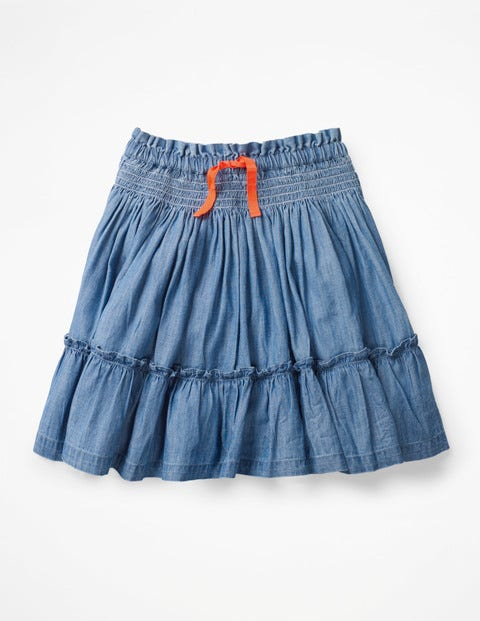 Twirly Skirt - Chambray Blue