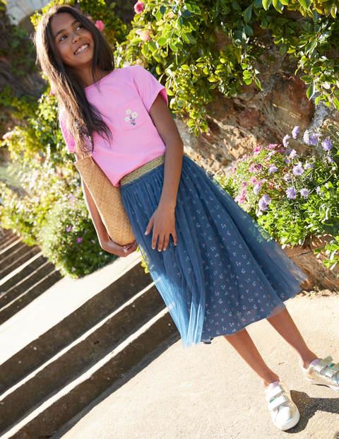 Tulle Midi Skirt - Lagoon Blue Vintage Posy