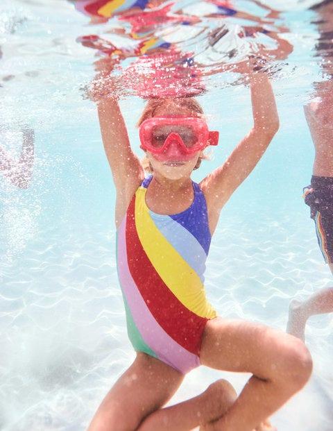 Cross-Back Swimsuit - Rainbow
