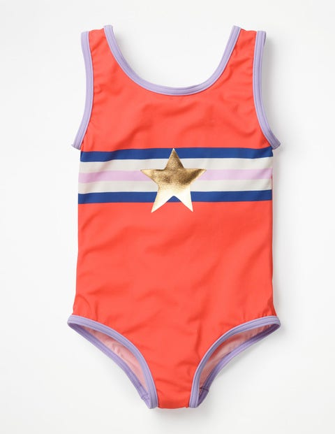 Appliqué Swimsuit - Jam Red Star