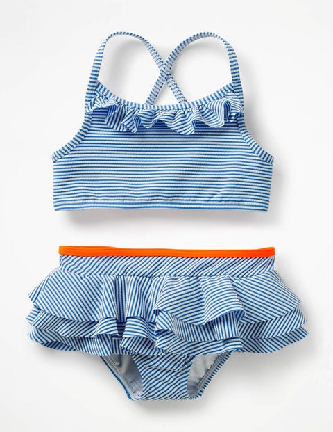 Pretty Bikini Set - Ivory/Skipper Blue