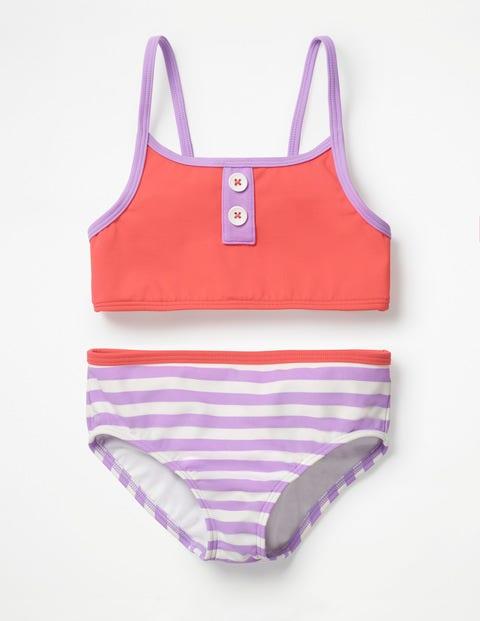 Stripy Bikini Set - Jam Red