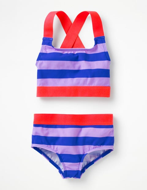 Surf-Bikini-Set - Lavendel/Oasenblau