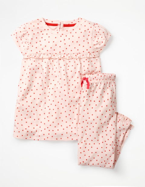 Pretty Pyjamas - Parisian Pink/Jam Red Hearts