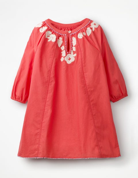 Embroidered Kaftan - Jam Red