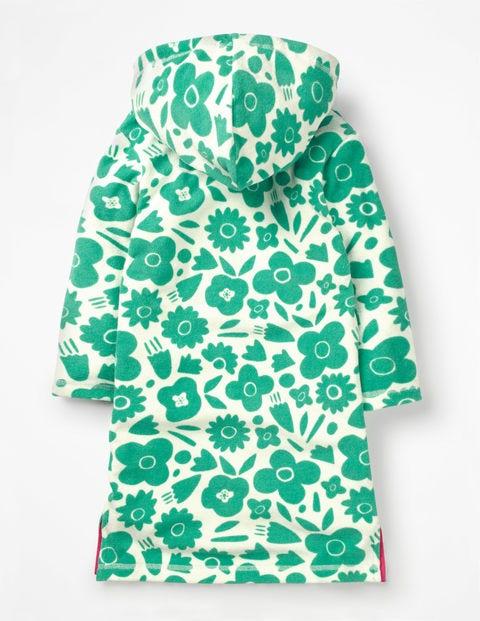 98b4e4c79228 Fun Towelling Beach Dress - Jungle Green Pop Floral | Boden US