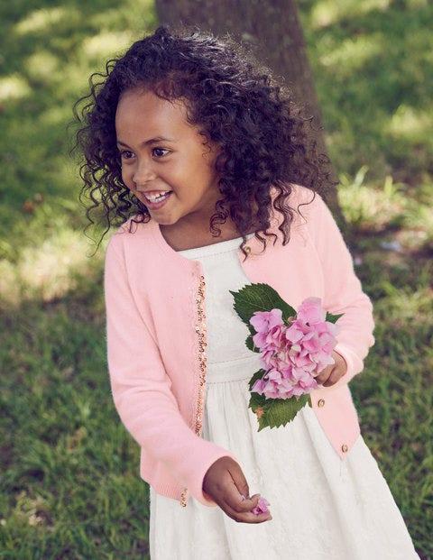 Cashmere Sequin Cardigan - Parasol Pink