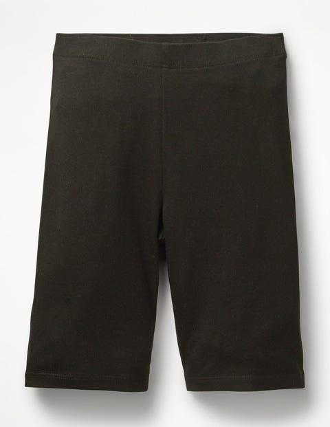 Plain Jersey Knee Shorts - Black