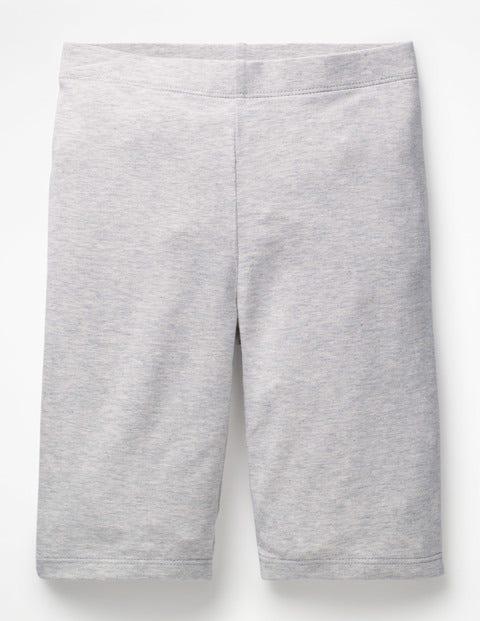 Plain Jersey Knee Shorts - Grey Marl