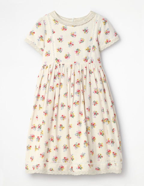 Nostalgic Printed Dress - Vintage Bloom
