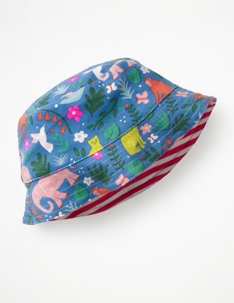 Chapeau réversible en jersey - Motif Indian Garden multi