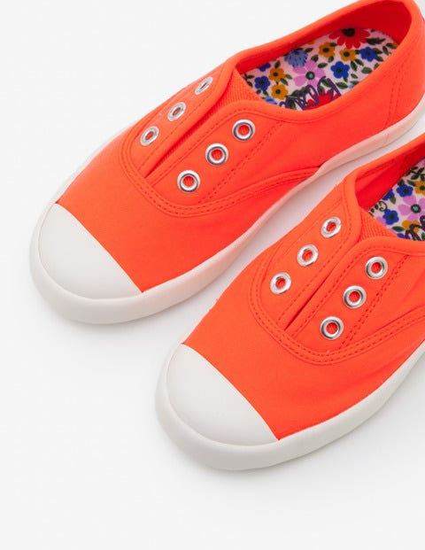 Laceless Canvas Shoes - Fluoro Coral