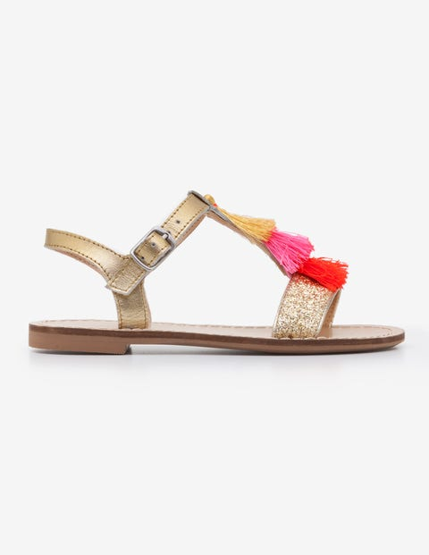 cda919afa Tassel Sandals - Gold Metallic