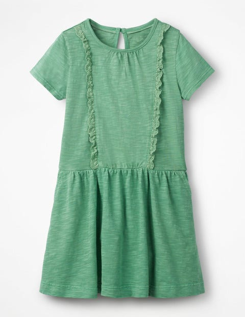 Garment Dye Jersey Dress - Jungle Green
