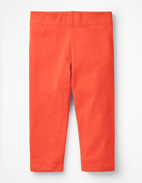 Plain Cropped Leggings - Tropical Coral