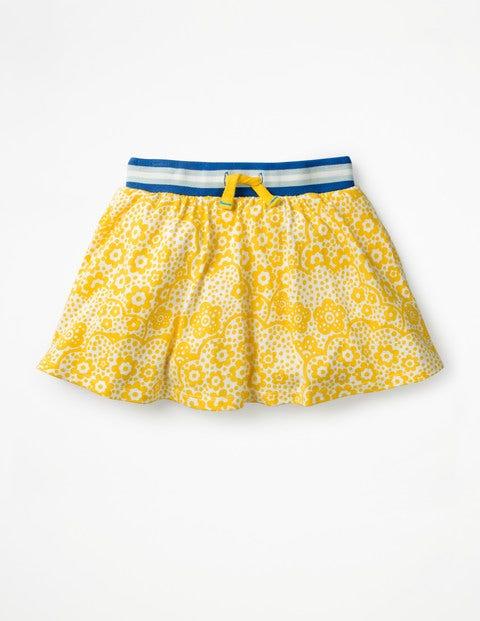 Jersey Skort - Sunshine Yellow Daisy Cloud