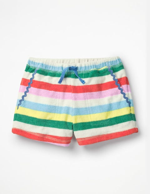 Towelling Shorts - Multi Candy Stripe
