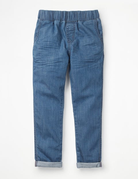 Relaxed Pull-On Trousers - Chambray