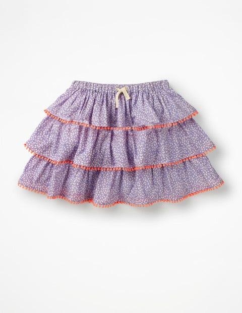 Mini Gemusterter Lagenrock Purple Mädchen Boden, Purple  |