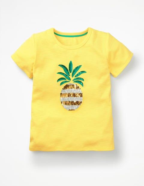 Sequin-Change T-Shirt - Primrose Yellow Pineapple