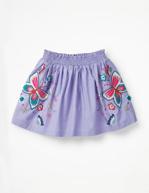 Bright Embellished Skirt - Parma Violet Butterflies