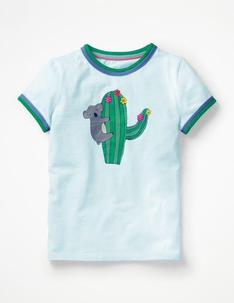 Animal Fun T-Shirt - Pale Blue Cactus