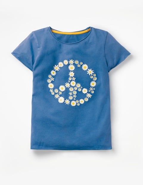 Flutter Appliqué T-Shirt - Elizabethan Blue Peace