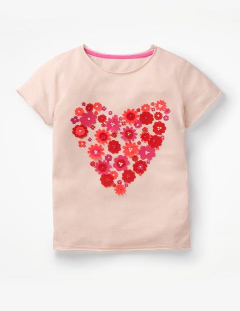 Flutter Appliqué T-Shirt - Parisian Pink Heart