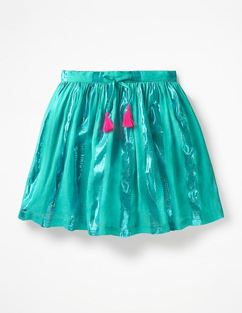Shimmer Stripe Skirt - Sea Breeze Green