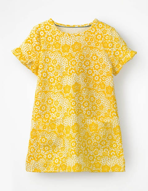 Colourful Tunic - Sunshine Yellow Daisy Cloud