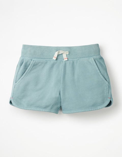 Garment-Dyed Jersey Shorts - Mineral Blue