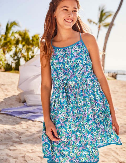 Tie-Front Dress - Sea Breeze Forget Me Not