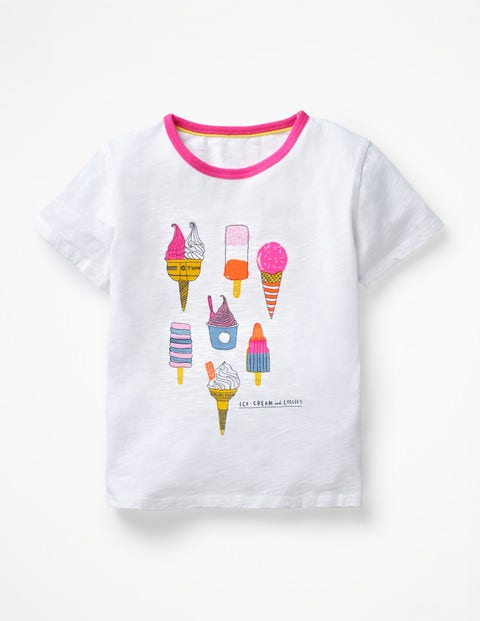 Sun Time T-Shirt - White Ice Creams