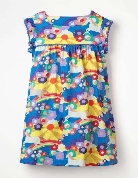 Frill Sleeve Jersey Dress