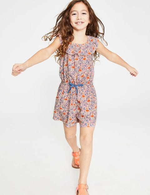 Ruffle Neck Woven Playsuit