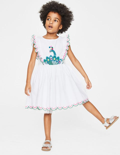 Scallop Embroidered Dress - White