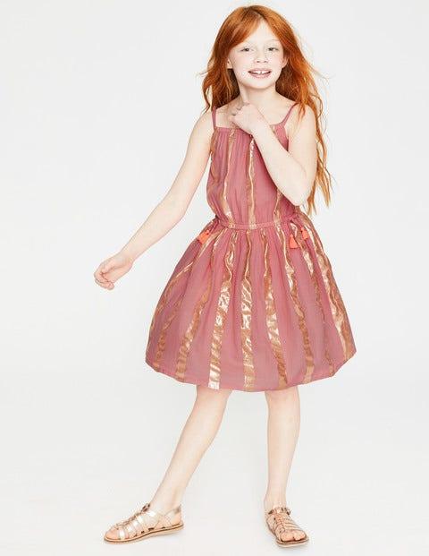 Shimmer Stripe Dress - Vintage Tea Rose Pink